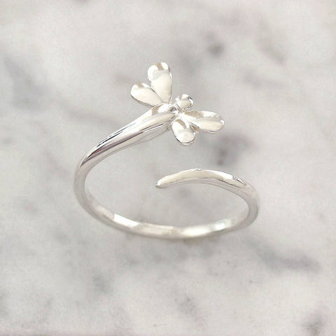Sterling Silver Dragonfly Wrap Ring