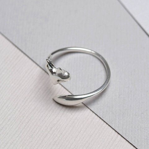 Sterling Silver Fox Wrap Ring - Mia Belle Jewellery