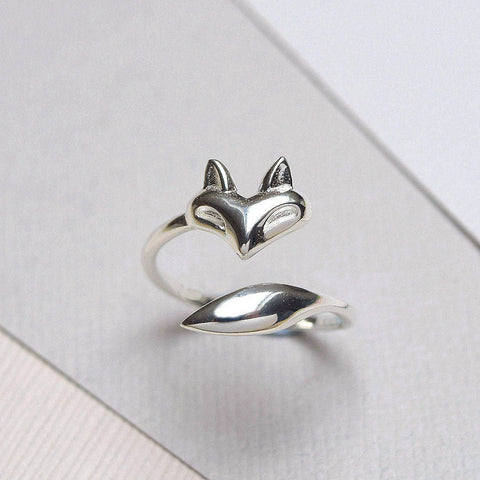 Sterling Silver Fox Wrap Ring