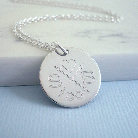 Sterling Silver I Love You Forever Necklace - Mia Belle Jewellery