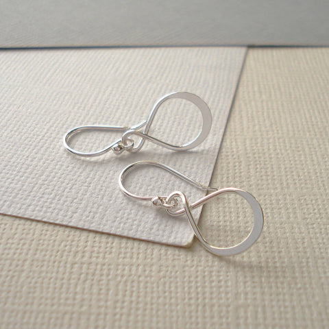 Sterling Silver Infinity Earrings - Mia Belle Jewellery
