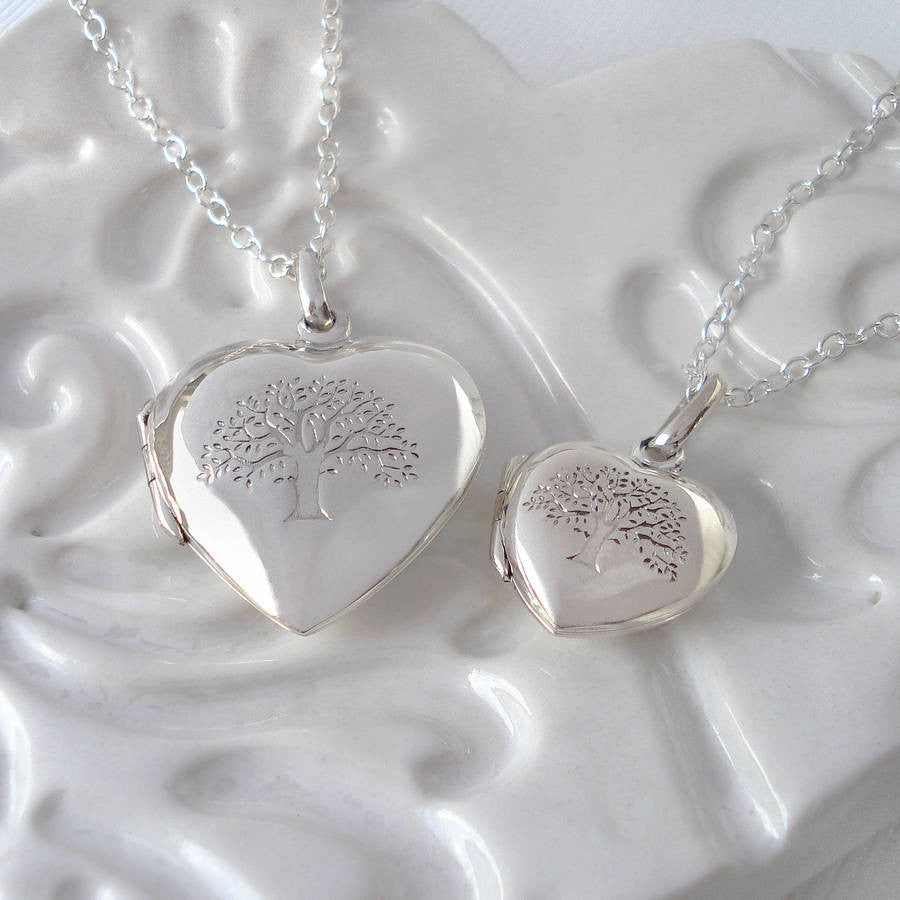 Sterling Silver Tree Of Life Heart Locket - Mia Belle Jewellery