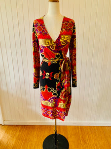 Vintage Charlie Brown wrap dress size 12