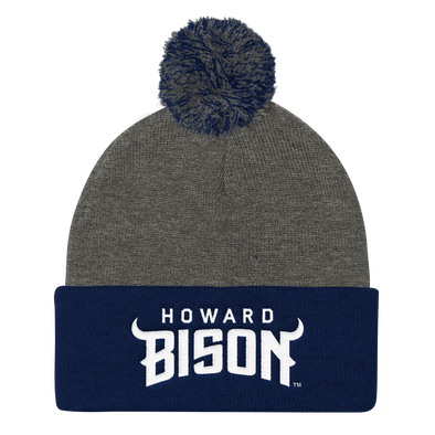 Howard University Bison Pom Pom Knit Beanie Cap