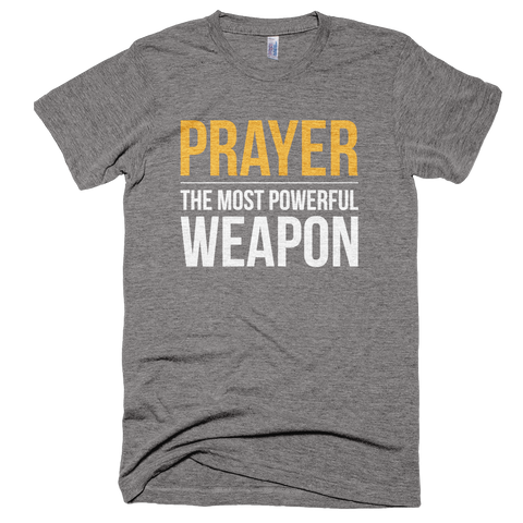 Prayer the most powerful weapon t shirt theology apparel
