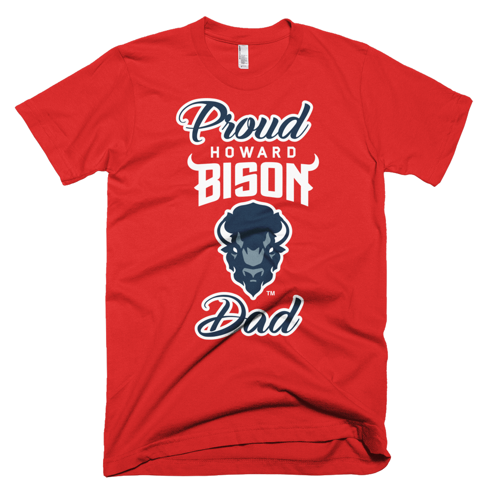 big sale fcb19 f0721 Howard University - Proud Dad T-Shirt