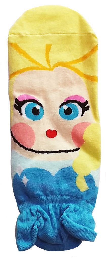 Princess Series Character Socks: Elsa, Anna, Ariel, Snow White, Jasmine