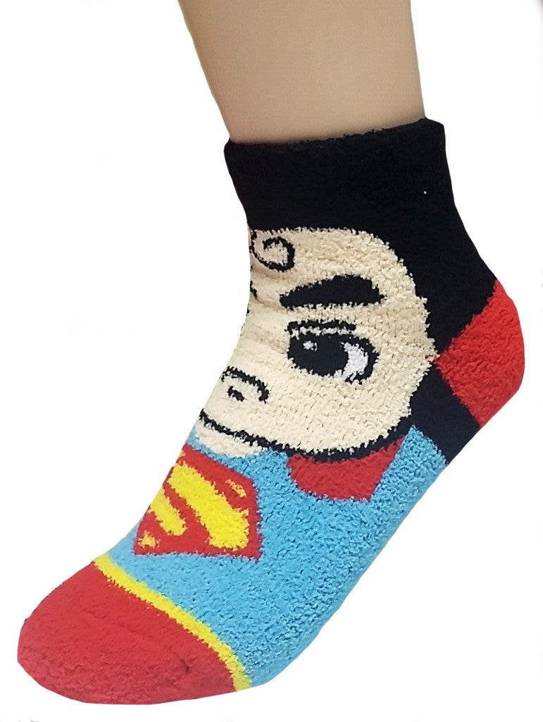 DC Superhero Fuzzy Ultra Soft Microfiber House Slipper Collection
