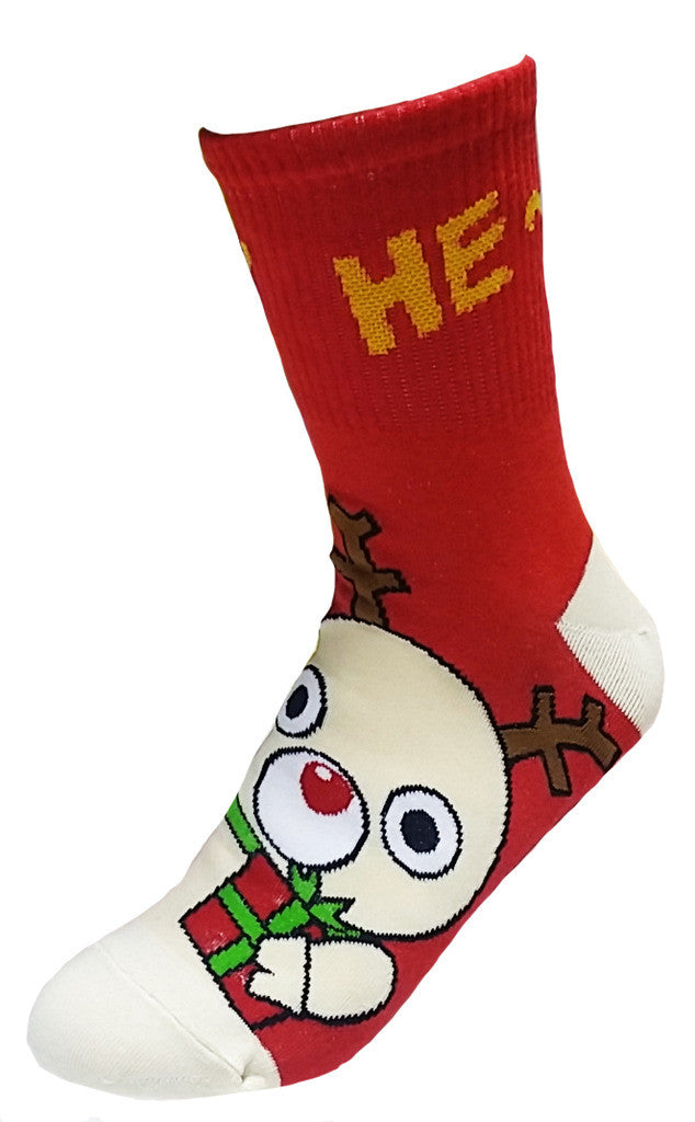 Silly Cartoon Christmas Socks Collection Santa Rudolph Snowman Polar Bear