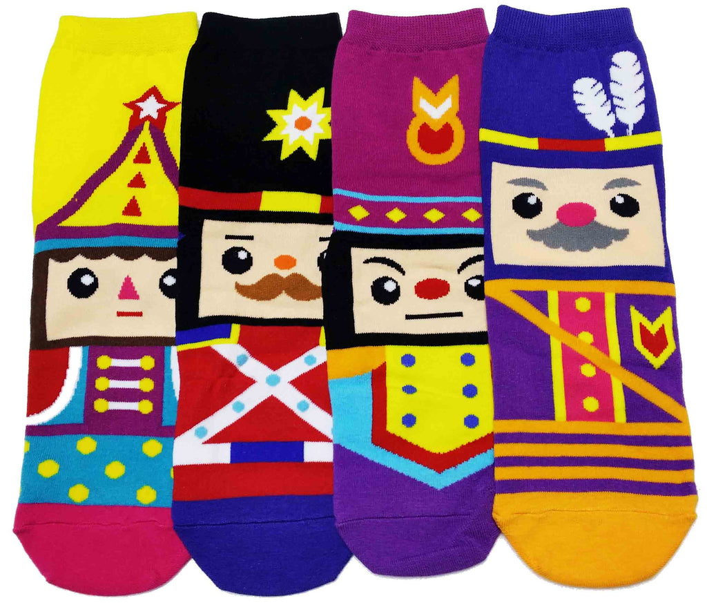 High Ankle Christmas Cotton Nutcracker Socks Set
