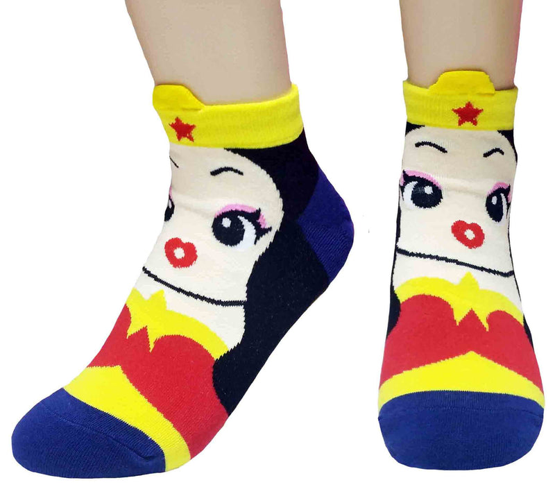 Women's Superhero Ankle Socks Set Comics
