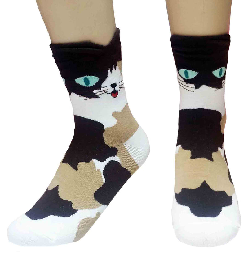Ear Cuff Cat Socks with Golden Egyptian Cat