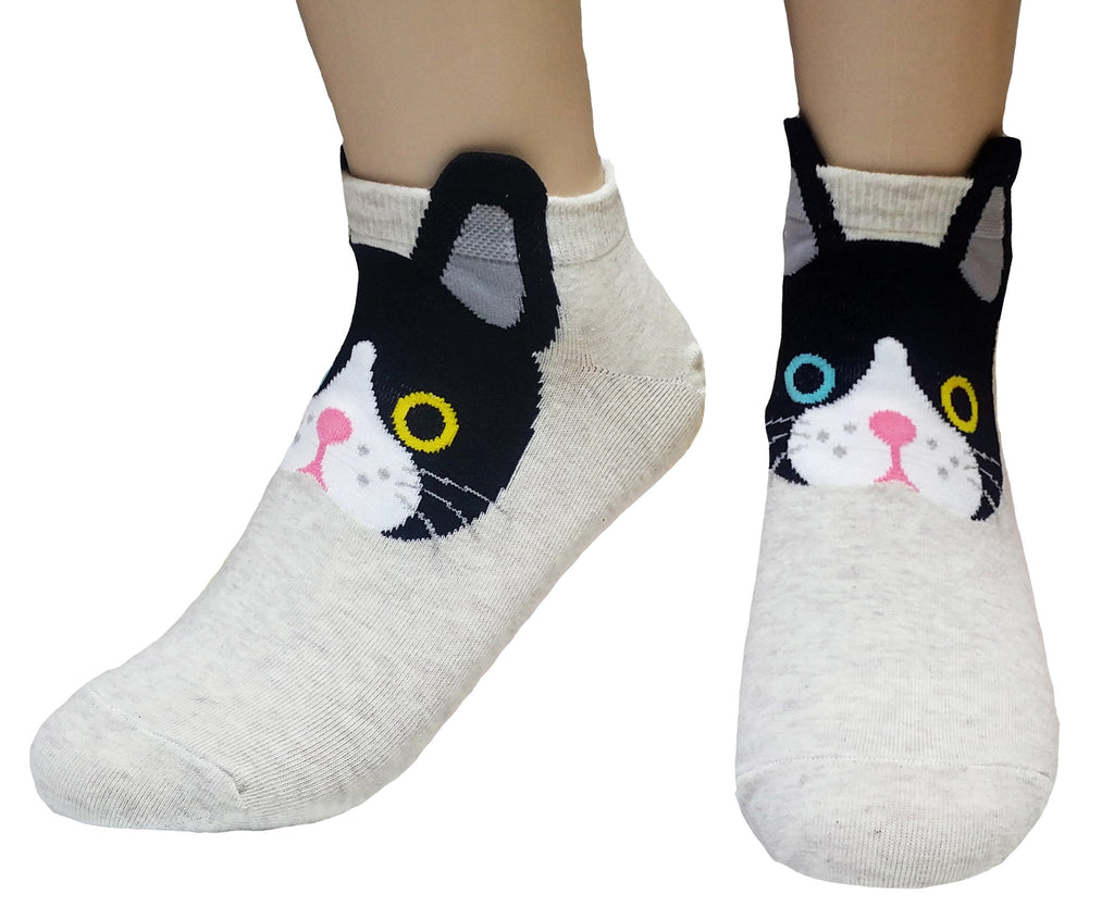Kitty Face Ear Cuff Socks