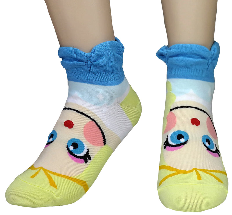 Girls Princess Collection Character Socks: Elsa, Anna, Ariel, Snow White, Jasmine