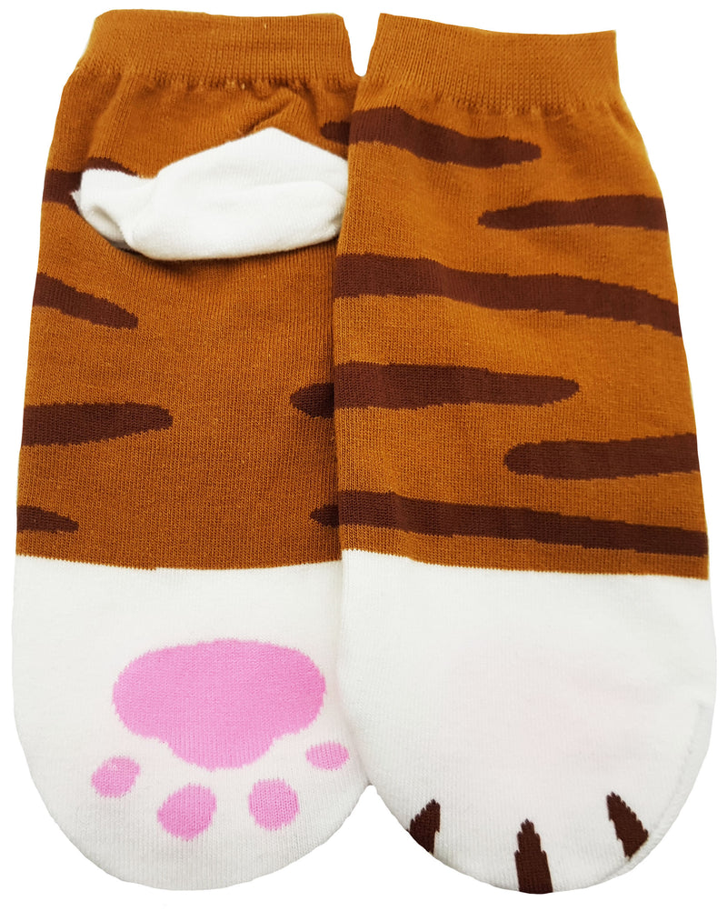 JJMax Women's Cute Kitty Cat Paws Socks with Paw Prints on Toes (Ankle Height)