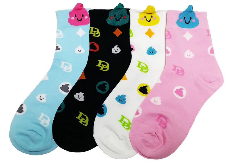 Fancy Poo Emoticon Silly Socks Set - A True Emoji Statement