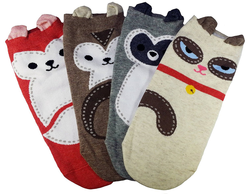 Stitched Design Cute Animal Socks