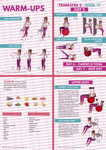 Pregnancy exercise & training plan