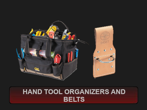 Hand Tool Organizers and Belts