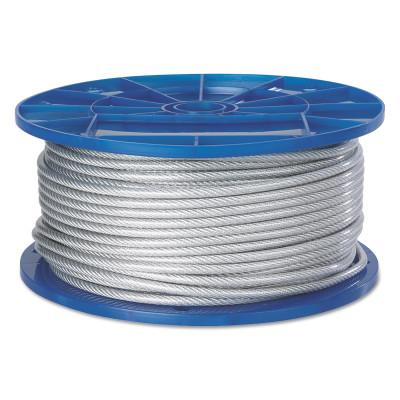 Peerless Aircraft Quality Wire Ropes, 7 Strands, 19 Strands/Wire, 1/4 in, 850 lb Load, 4501308