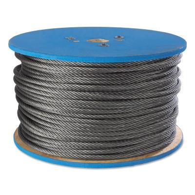Peerless Aircraft Quality Wire Ropes, 7 Strands, 7 Strands/Wire, 3/32 in, 184 lb Load, 4500990