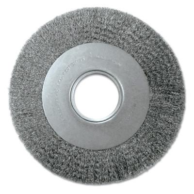 Anderson Brush Med. Crimped Wire Wheel-DA Series, 7 D x 1 1/8 W, .0118 Carbon Steel, 6,000 rpm, 1254