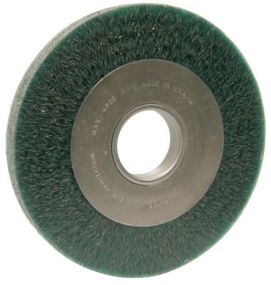 Anderson Brush Anderbond™ Crimped Wire Wheel, Carbon Steel, 8 D x 7/8 W, .01 in Wire, 4,500 rpm, 01654