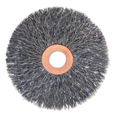 "Anchor Products Stainless/Aluminum Small Crimped Wheel Brushes, 3 x 5/8, 0.014, 1/2 - 3/8"", 93067"