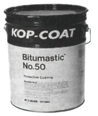 Bitumastic® Protective Coatings, No 50, Black/Tar, 1 gal, 50-1