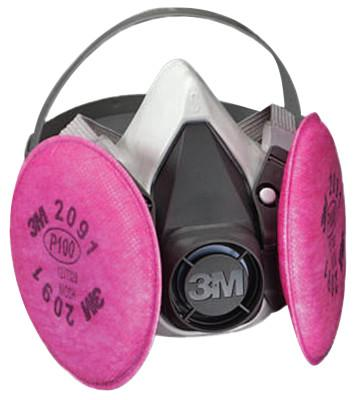 3M 6000 Series Half Facepiece Respirator Assemblies, Small, 7010383694
