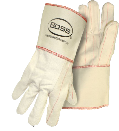 Boss 1BC21701J 2-Ply White Chore w/ Rubberized Safety Cuff - AMMC