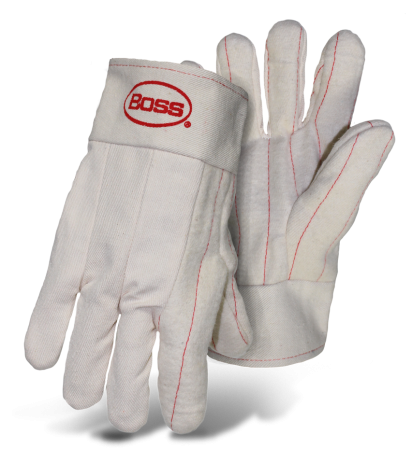 Boss 1BC42735 2-Ply Hot Mill Nap-Out Double Stitched Cuff Gloves - AMMC