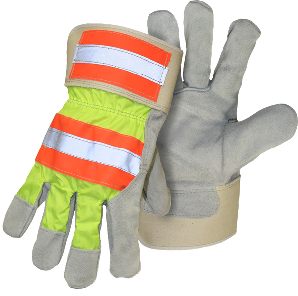 Boss 1JL5460 High-Vis Split Cowhide / Leather Palm with Safety Cuff - AMMC
