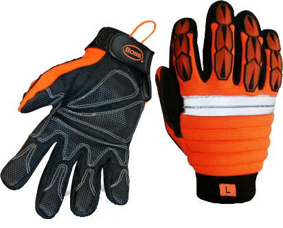 Boss 1JM650 Miner's Mechanic Hi-Vis Gloves - AMMC