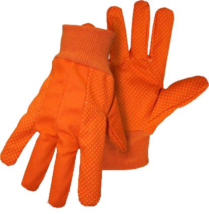 Boss 1JP5504F Poly/Cotton Hi-Vis w/ Orange PVC Dotted Palm - AMMC