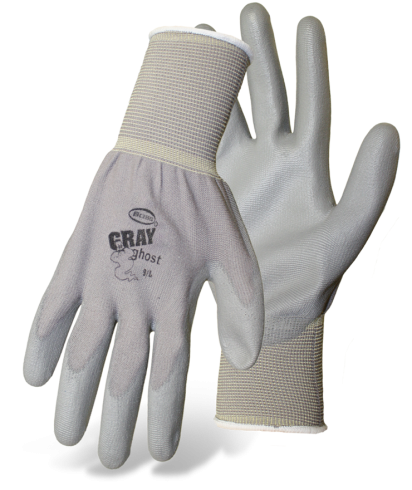 Boss 1PU3000 Gray Ghost Palm Dip Assembly Gloves - AMMC