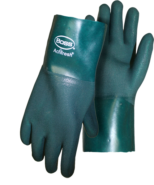 Boss 1SP1712 Green PVC Sandy Grip Jersey Lined with Actifresh - AMMC