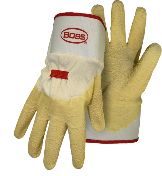 Boss 1SR8424 Power Grip+ Crinkled Latex Dip Grip with Safety Cuff - AMMC