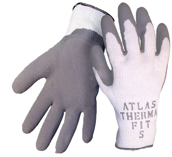 Boss 1SR8430 Atlas Therma Fit Latex Crinkle String Knit Gloves - AMMC