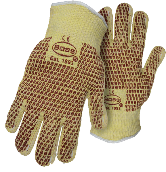 Boss 1TN4100KB Cut Resistant 2-Ply Cotton Aramid Terry Cloth Gloves - AMMC