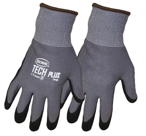 Boss 1UH7830 Boss Tech Plus Dipped Assembly Gloves - AMMC