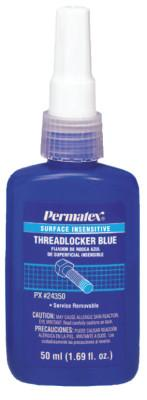 Permatex® Surface Insensitive Blue Threadlockers, 50 mL, 3/4 in Thread, Blue, 24350