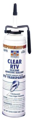 Permatex® Clear RTV Silicone Adhesive Sealants, 7.25 oz PowerBead Can, Clear, 85913