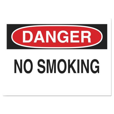 Brady Health & Safety Signs, Danger - No Smoking, 10X14 Polyester Sticker, 88371