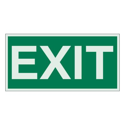 BRADY Exit Signs, Green on White, 59330