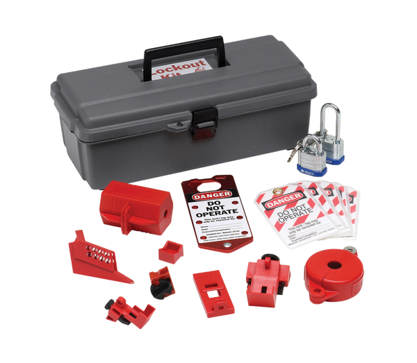 Brady Lockout Tool Box w/ Components - AMMC