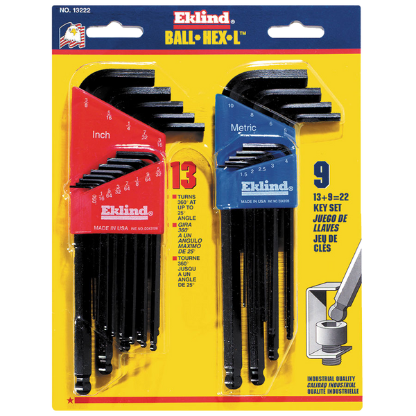 Eklind Ball-Hex-L Key Sets - AMMC