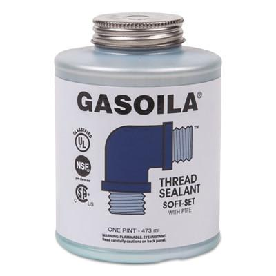 Gasoila® Chemicals Soft-Set Thread Sealants, 1 pt Brush Top Can, Blue/green, SS16