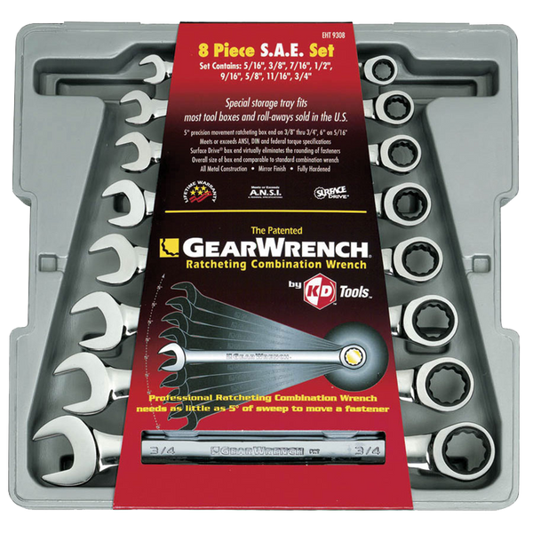 Gearwrench 8pc. Combo Ratcheting Wrench Set - AMMC