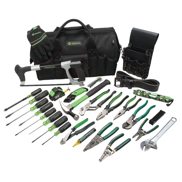 Greenlee 28 Piece Master Electrician's Tool Kit - AMMC